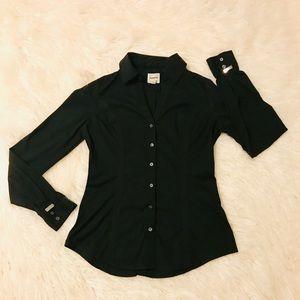 Express Fitted Essential Button Up Dress Shirt